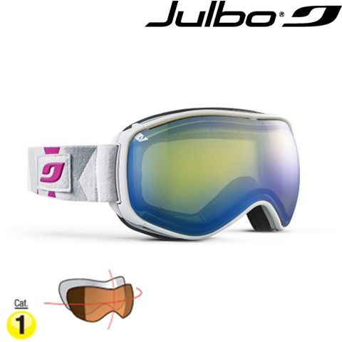 J 755 12 11 7 - Маска лижна VENTILATE white/blue/pink / Лінза: Yellow Double lens cat. 1
