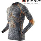 I100664G372 XXL - Термофутболка чоловіча Energy Accumulator Evo Melange Shirt Long Sleeves Grey Melange/Orange